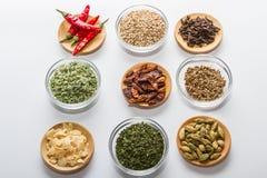 Épices pour la cuisson Images libres de droits