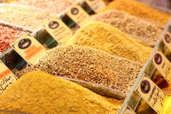 Épices sur le bazar d'Istanbul, bazar d'épice Images libres de droits