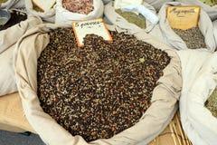 Épices sur le marché Photos stock