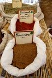 Épices sur le marché Image stock