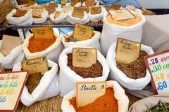 Épices sur le marché Image libre de droits