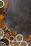 Épices utilisées dans la cuisson Images libres de droits