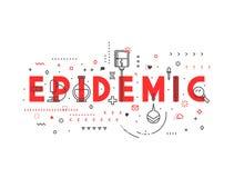 Épidémie de concept de médecine illustration stock
