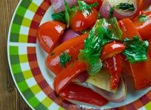 Épinards avec le beurre d'arachide d'arachides Image libre de droits