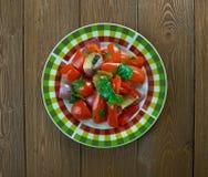 Épinards avec le beurre d'arachide d'arachides Image stock