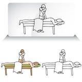 Épine de alignement de chiroprakteur illustration libre de droits