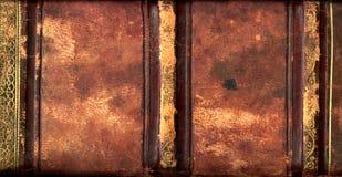 Épine en cuir de livre Photographie stock libre de droits