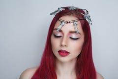 Épines de couronne de femme photo stock