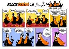 Épisode 2 de la présentation horizontale sur microfilm 2 de bande dessinée de canards noirs Photos libres de droits