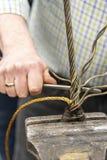 Épissure d'oeil de câble métallique de calage image stock