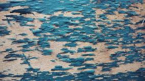 Épluchage bleu des planchers en bois Fond photos stock
