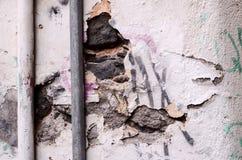 Épluchage de la texture blanche de fond de mur photo stock