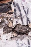 Épluchage de la texture blanche de fond de mur image stock