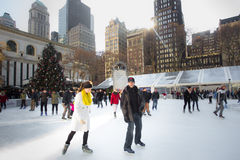 Época de Natal de Bryant Park NYC Foto de Stock Royalty Free