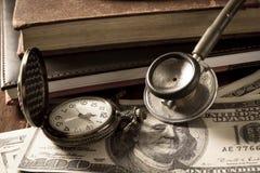 Época del negocio médico foto de archivo