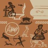 Épocas antiguas stock de ilustración