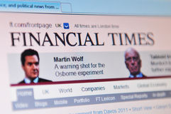 Épocas financeiras Fotografia de Stock