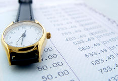 Épocas financeiras Fotografia de Stock Royalty Free