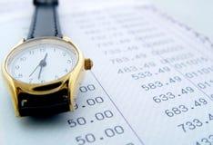 Épocas financieras fotografía de archivo libre de regalías