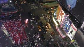 Épocas Sqare New York City de cima de video estoque