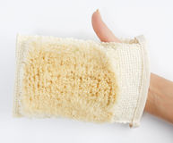 Éponge de Bath de main Photo libre de droits