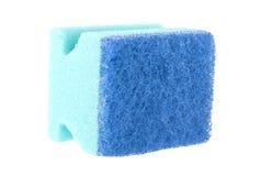 Éponge de caoutchouc mousse pour laver d'isolement sur le blanc Photos libres de droits