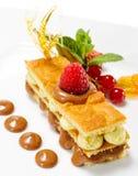éponge de dessert de gâteau Images stock
