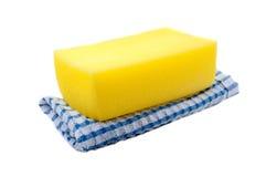 Éponge et serviette Image libre de droits