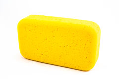 Éponge jaune Image stock