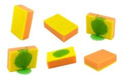 Éponge orange d'isolement Image stock