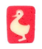 Éponge pour des enfants avec la configuration de canard Image stock