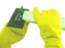Éponge pour les paraboloïdes de lavage Photos stock