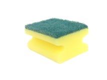 Éponge pour les paraboloïdes de lavage d'isolement Photo stock