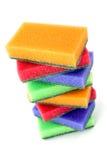 Éponges brillamment colorées Photo libre de droits