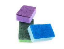 Éponges colorées Photo stock