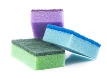 Éponges colorées Image libre de droits