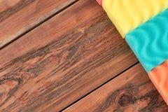 Éponges de cuisine de Colorul, l'espace de copie Image stock