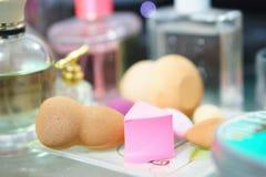 Éponges de maquillage Photos stock