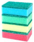 Éponges pour les plats de lavage Photographie stock