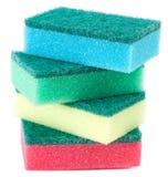 Éponges pour les plats de lavage Images stock