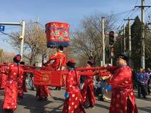 Épousant dans Pékin, le 20 mars 2016 porcelaine Photos stock