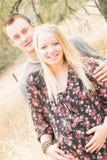 Épouse enceinte heureuse avec le mari Photos libres de droits
