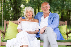 Épouse et mari aînés Photographie stock libre de droits