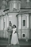 Épouser dans la belle vieille ville Images libres de droits