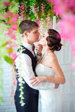 Épouser dans le rétro style Image libre de droits