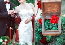 Épouser dans le rétro style Photographie stock libre de droits