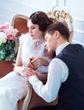 Épouser dans le rétro style Photos stock