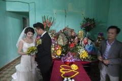 Épouser dans le village près de Hanoï Image libre de droits