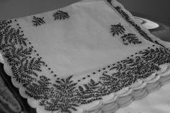 Épouser des serviettes avec le nom image stock