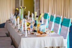 Épouser l'intérieur de banquet Images stock